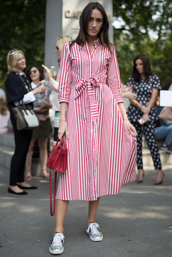 Wear a Red and White Midi Dress