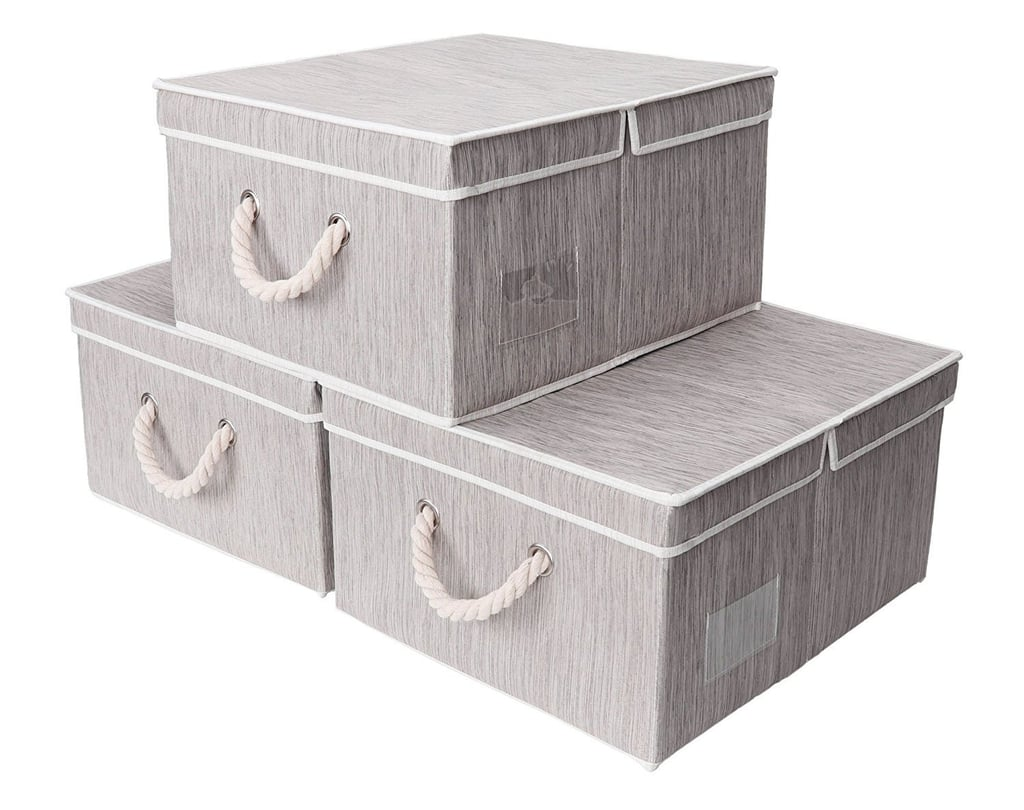 Canvas Storage Box 3-Pack