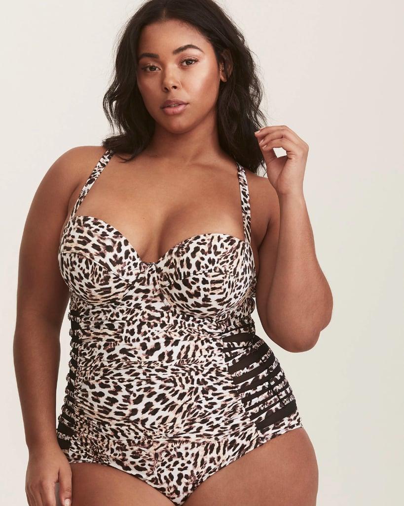 cdf6027794546 Torrid Leopard Print Mesh Inset One-Piece Swimsuit | Haim Sisters ...