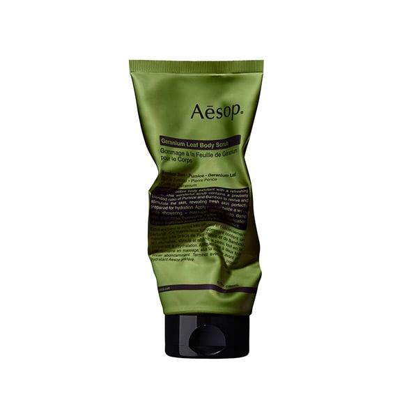 Aesop Geranium Leaf Body Scrub, $39