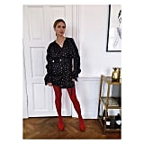 A Belted Long-Sleeved Mini and Bold Tights
