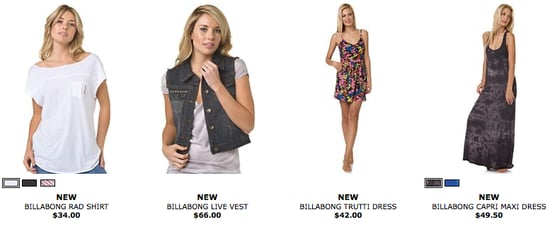 Shop Billabong's Designer Closet, Get a Free Billabong Tote