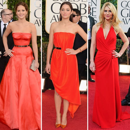 These ladies in red made the carpet searing hot.