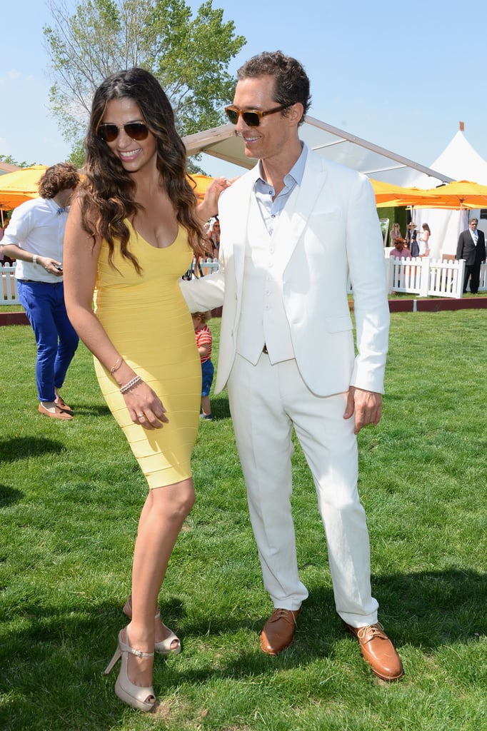 The couple shared a laugh at the June 2013 Veuve Clicquot Polo Classic in New Jersey.