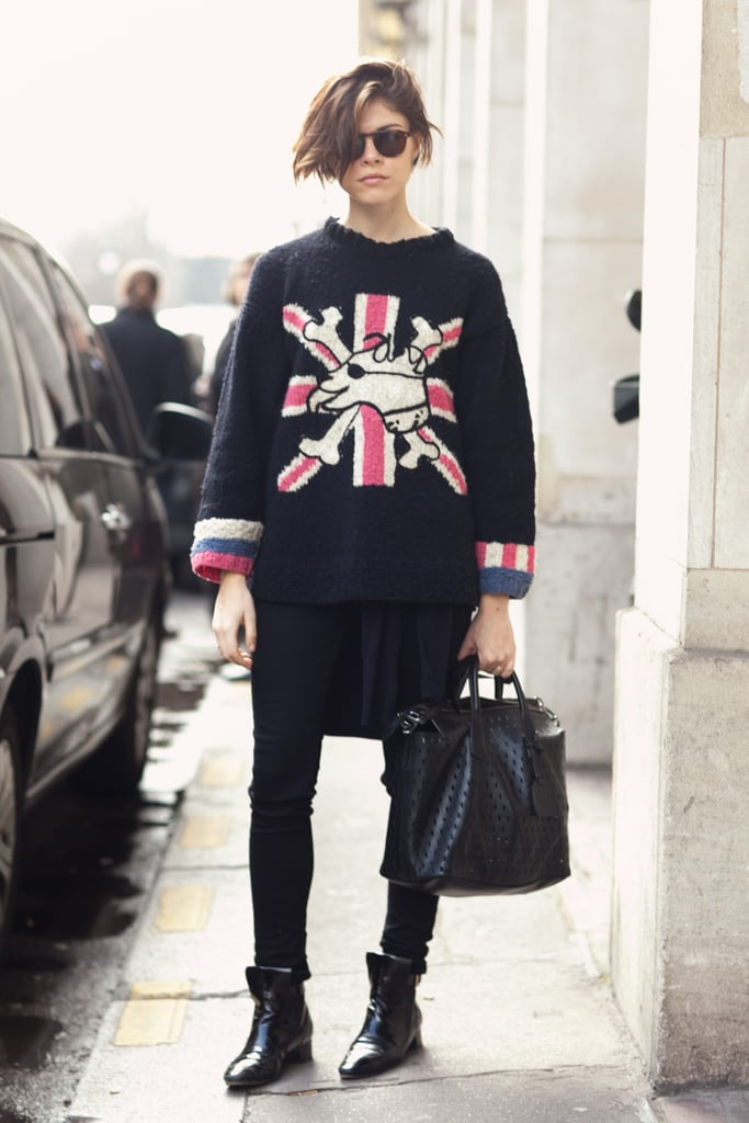 Emily Weiss took a British punk vibe to the streets of Paris. Source: Le 21ème | Adam Katz Sinding