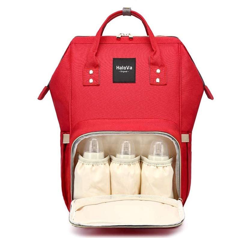 Best Overall Pick: HaloVa Diaper Bag Multi-Function Waterproof Travel Backpack