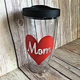 Mom Heart Coffee Tumbler
