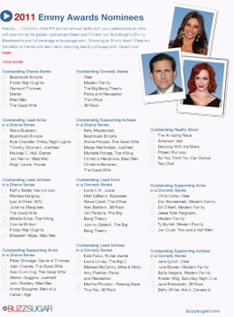Printable Emmy Ballot 2011