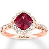 Neil Lane Garnet Engagement Ring 1/2 ct tw Diamonds 14K Gold