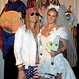 "Adam Levine and Anne Vyalitsyna as Axl Rose and Stephanie Seymour From ""November Rain"""