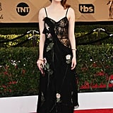 While Emma Stone Went With Alexander McQueen to the 2017 SAG Awards