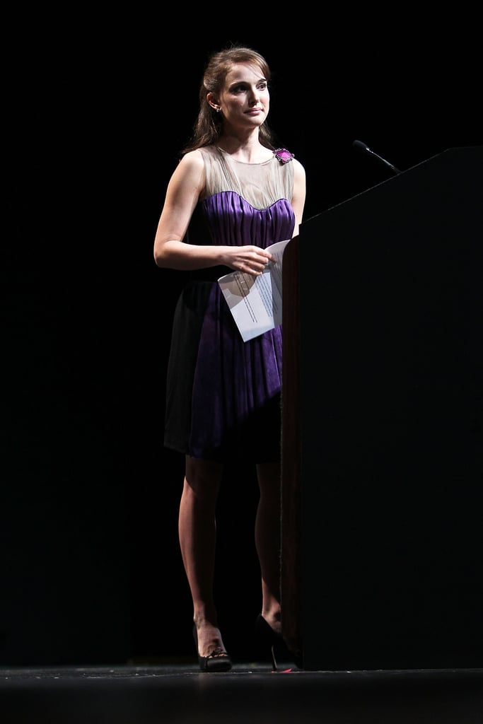 Natalie Portman attended the Elie Wiesel tribute event.