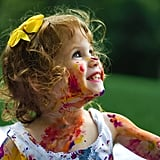Age 3: Embrace the chaos and let them explore by getting messy.