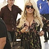 Jessica Simpson Flies Home With Eric & Baby — See Maxwell's Cute Face!