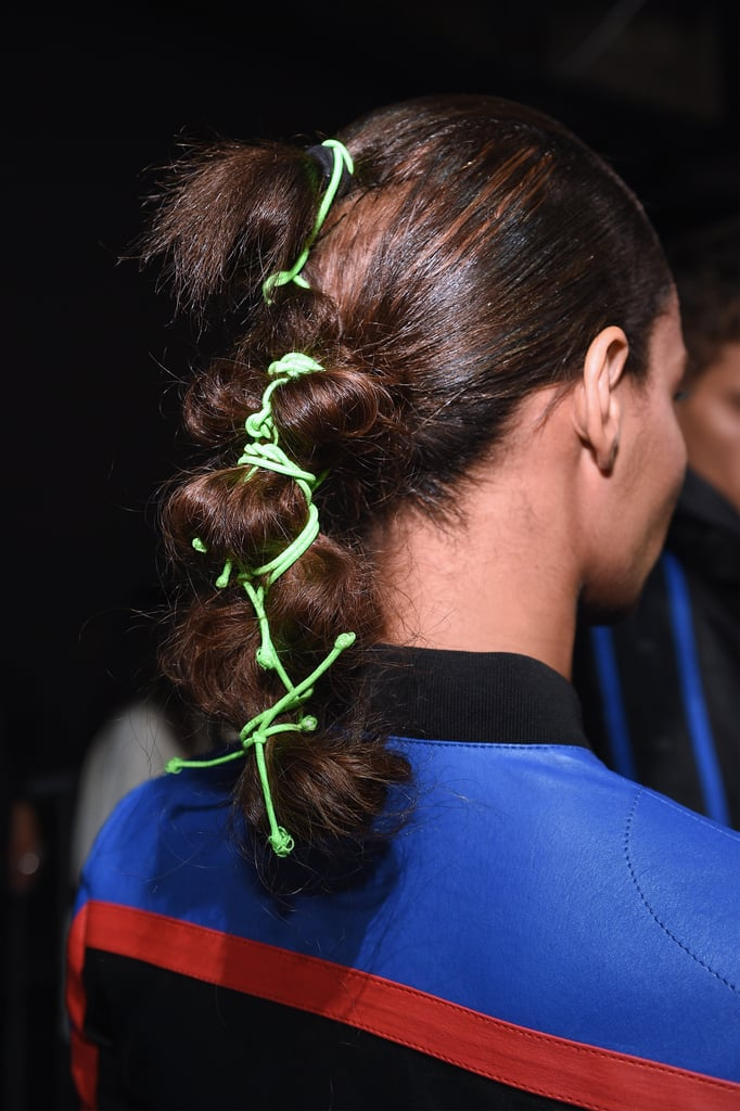 Not-so-Basic Ponytails at Fenty Puma By Rihanna NYFW Spring 2018