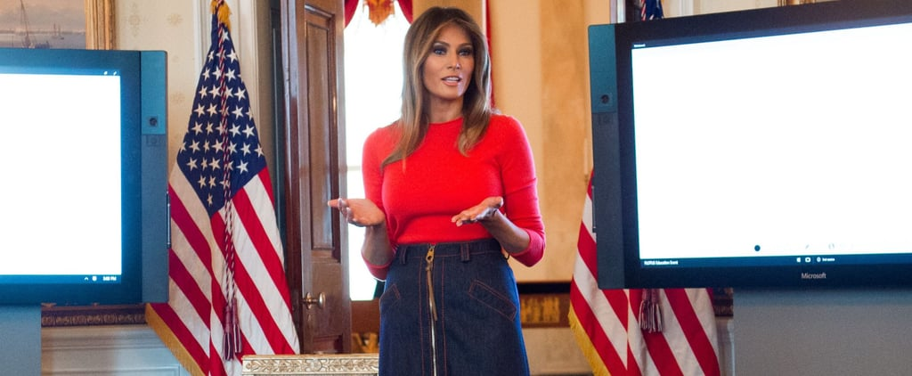 Melania Trump Denim Skirt