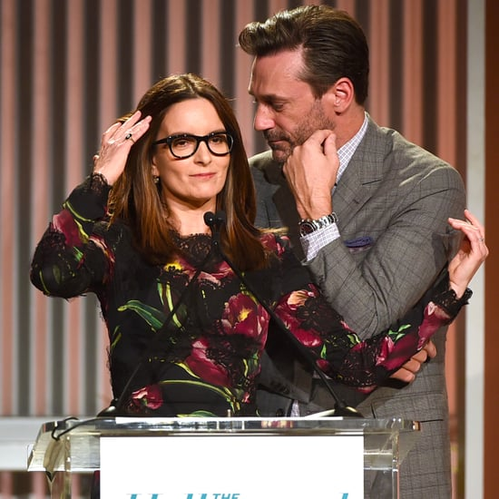 Tina Fey and Jon Hamm at THR Women in Entertainment 2016