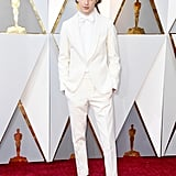 In his first-ever Oscars appearance in 2018, the best actor nominee wore an all-white suit by Berluti.