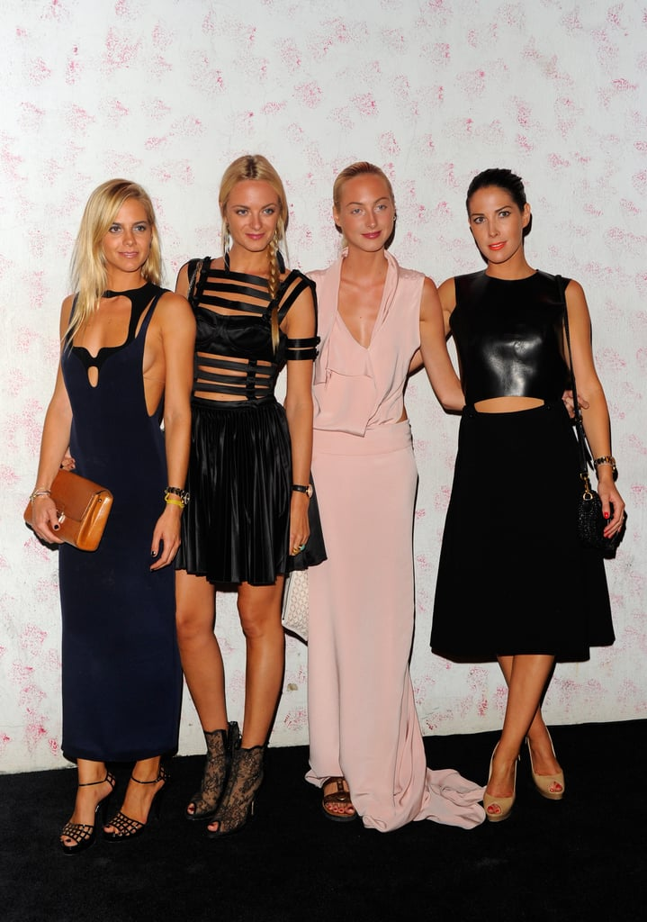 Jenna, Virginie, Claire, and Prisca Courtin-Clarins