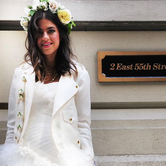See The Man Repeller Leandra Medines Marchesa Wedding Dress Up