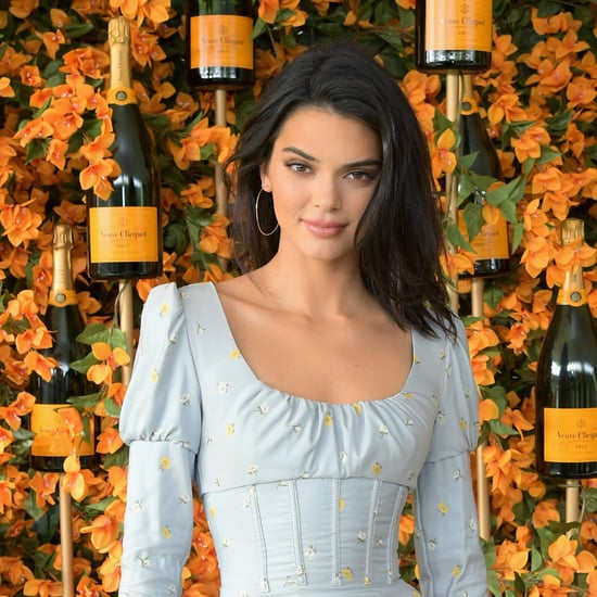 Kendall Jenner's Blue Corset Dress October 2018