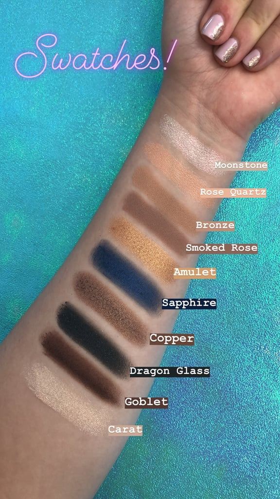 Beauty by POPSUGAR Crystal Power Palette in Sapphire Queen Swatches ...