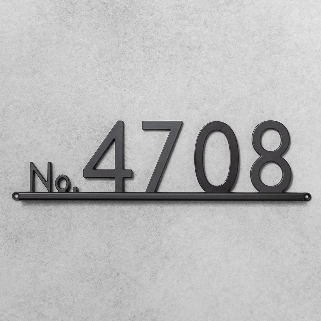 House Number Channel Bracket