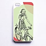 She's So Retro Bicycle Girl iPhone Case ($17)