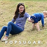 Prince George and Kate Middleton at Polo Match in June 2015