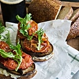 Balsamic Eggplant, Slow Roasted Tomato, and Goat Cheese Sandwich