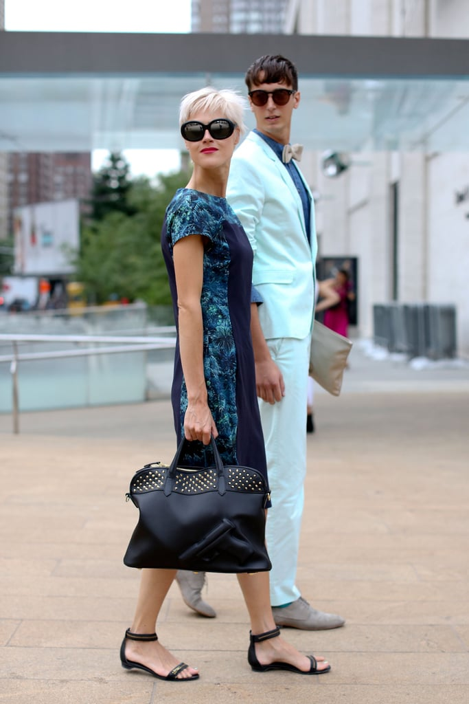 This dapper duo got it right by balancing pastels and digital prints.