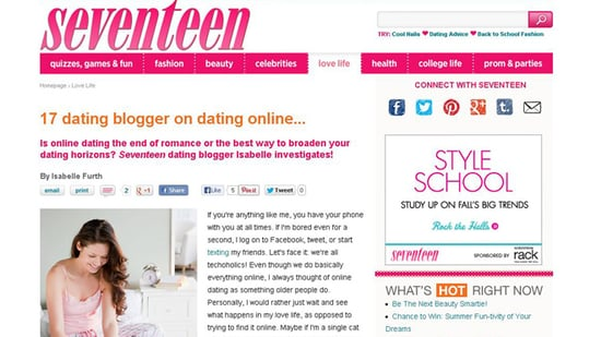 Online dating at 17