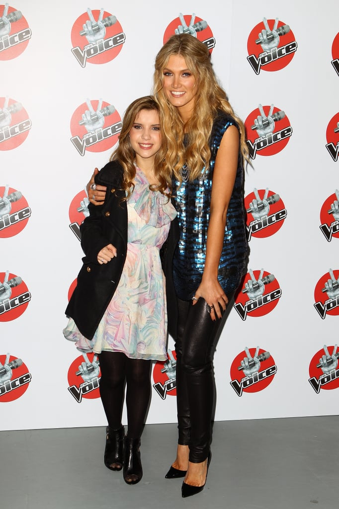 "Delta Goodrem posed with her finalist from The Voice, who she dubbed her ""angel,"" Rachael Leahcar, at a press conference for the show in June 2012."