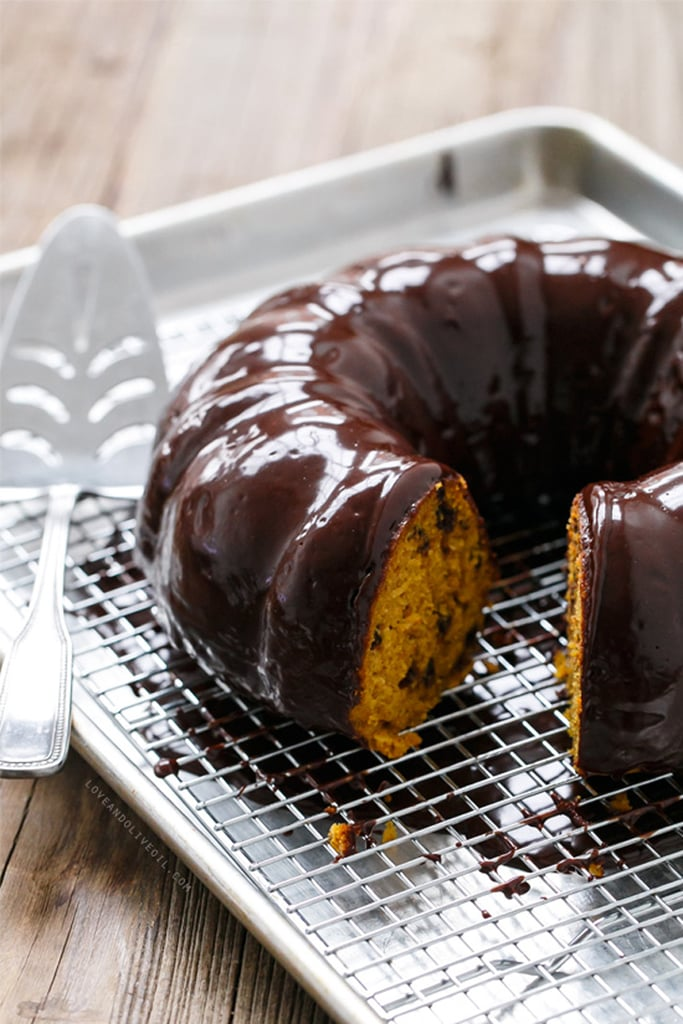Pumpkin Chocolate Chip Bundt Cake With Chocolate Glaze