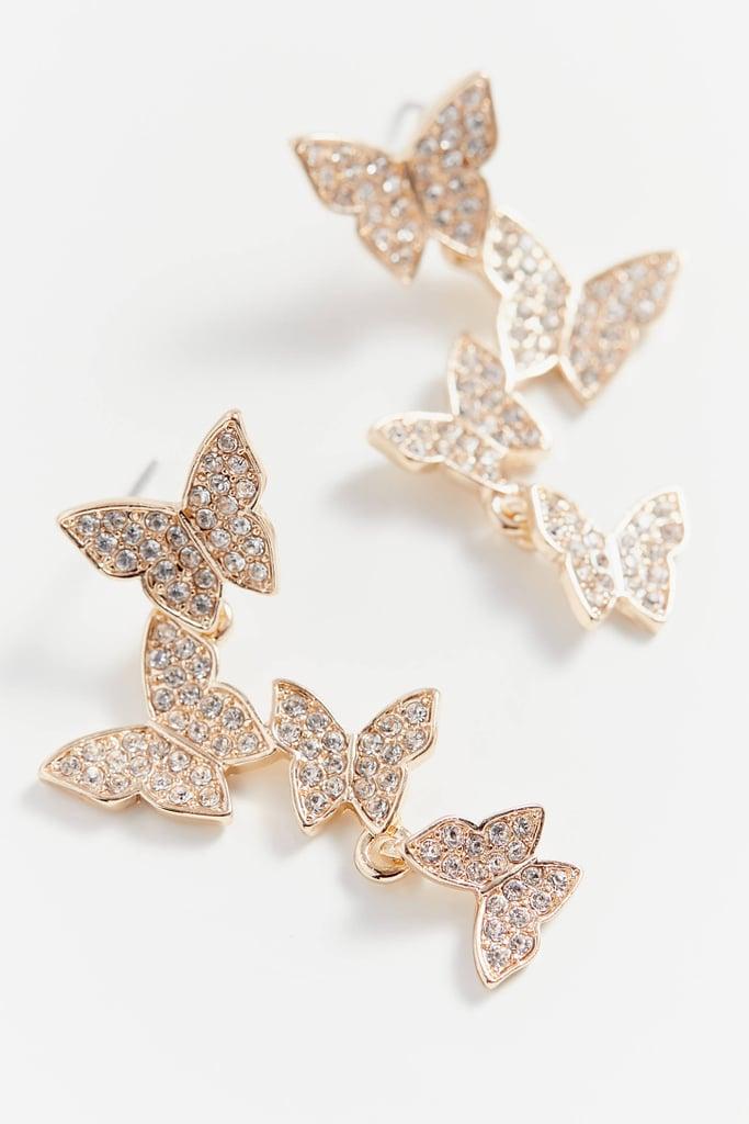Butterfly Statement Drop Earrings