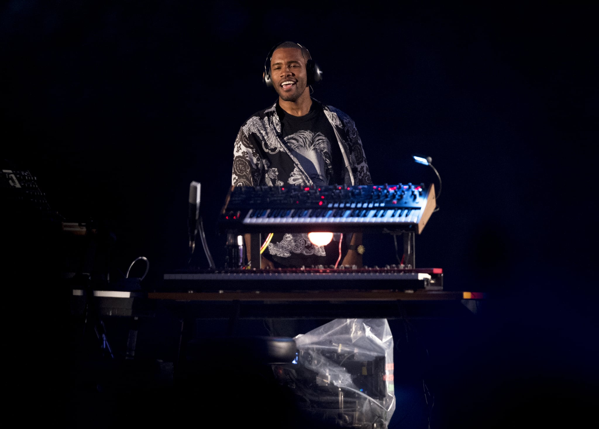 MANCHESTER, ENGLAND - JUNE 11: Frank Ocean performs at The Parklife Festival 2017 at Heaton Park on June 11, 2017 in Manchester, England. (Photo by Visionhaus#GP/Corbis via Getty Images))