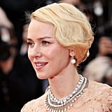 Naomi Watts looked divine with an old Hollywood style updo. The key to this hairstyle is achieving neat finger waves before you start pining. Try her style for your next big event using the Silver Bullet Triple Barrel Curling Iron ($60).