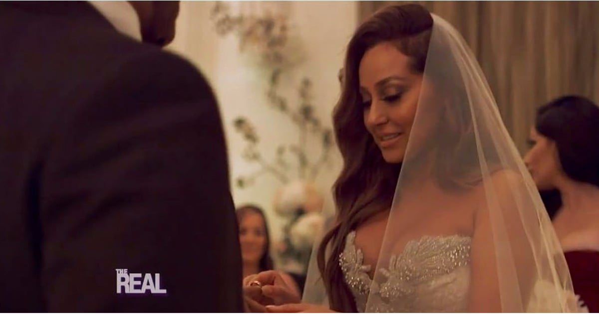 871b62de2e8 Adrienne Bailon s Wedding Dress