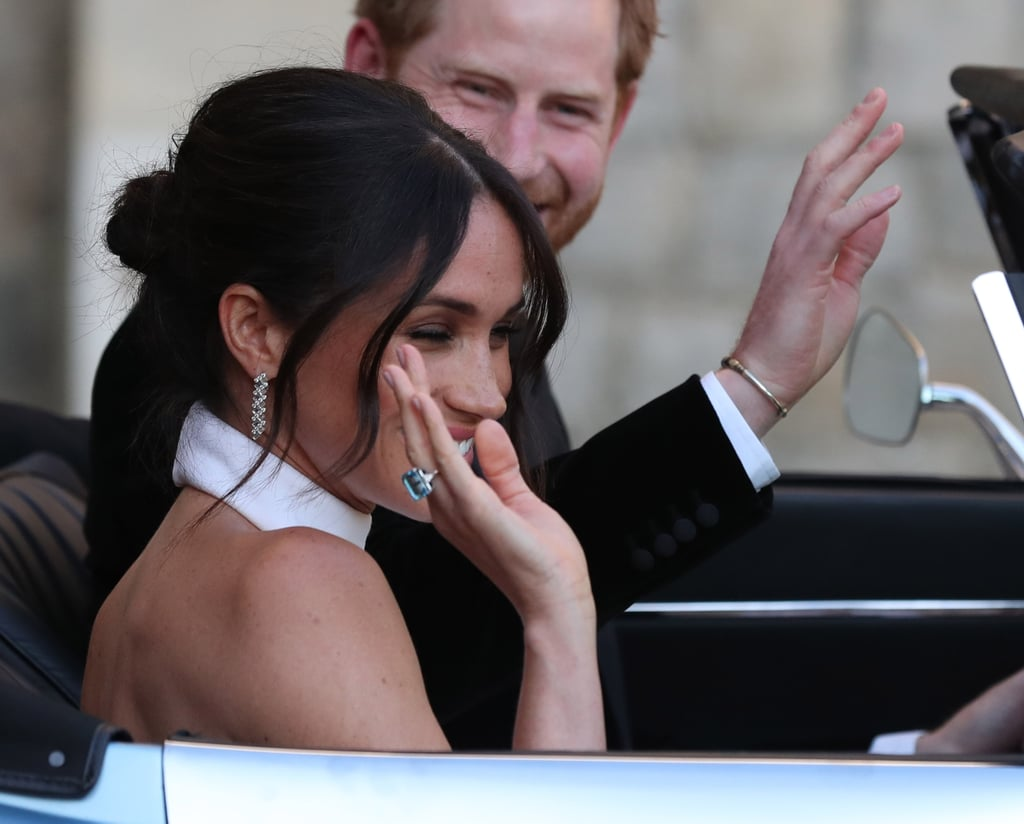 Meghan Markle Wearing Princess Diana's Jewellery
