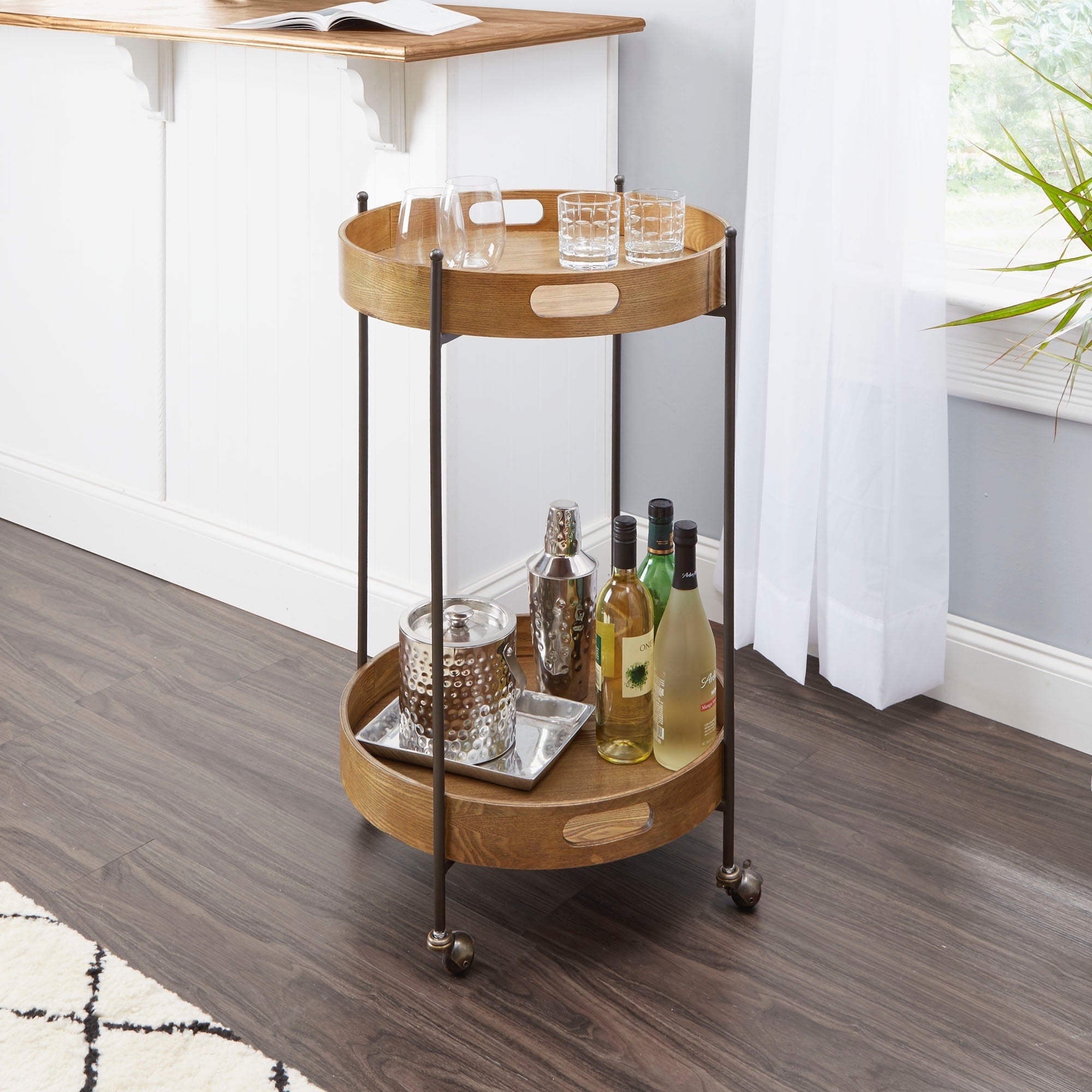 Better Homes And Gardens Round Bar Cart Small Space Furniture From Walmart Popsugar Home Australia Photo 43