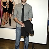 John Krasinski at the Loos by Zoe Buckman Photo Exhibition Opening in 2010