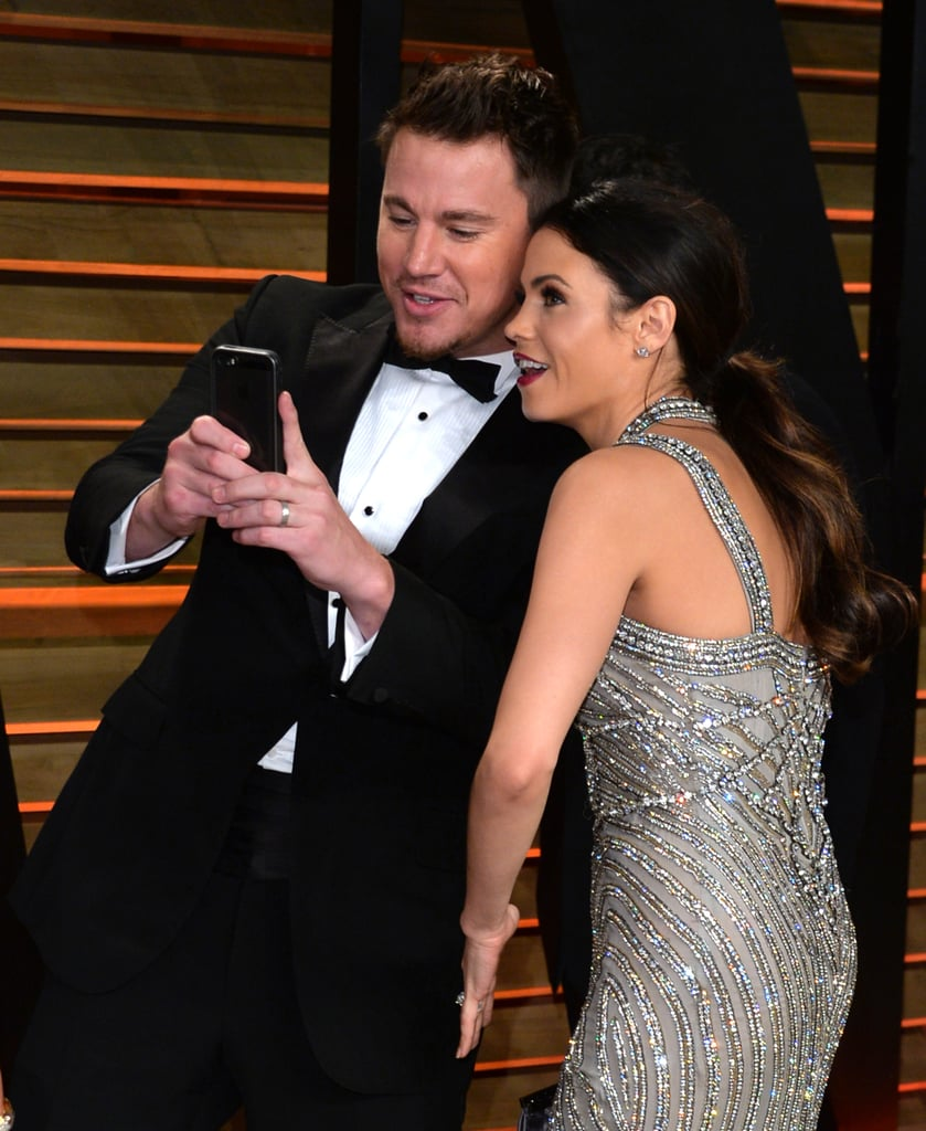 Jenna and Channing snapped selfies as they arrived at the Vanity Fair Oscars afterparty in March 2014.