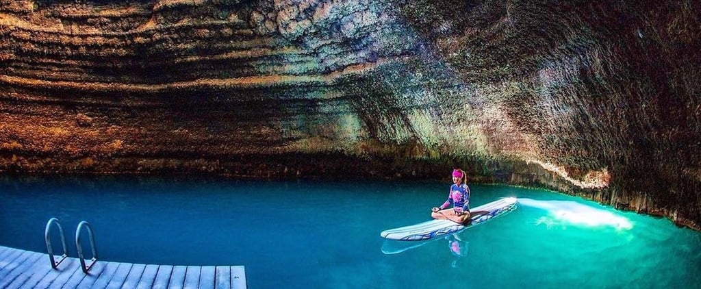 You Can Scuba Dive, Swim, or Take a Paddle Board Yoga Class in This Geothermal Crater!