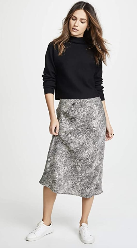 For Print-Lovers: Re:named Leopard Midi Skirt