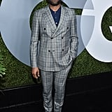 Donald Glover, Patterned Suit on Point