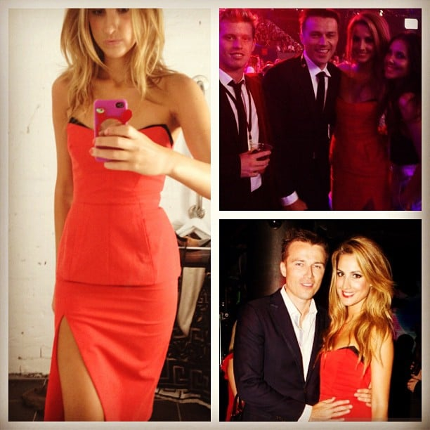 Laura Dundovic wore a hot red dress to the ARIAs last year. Source: Instagram user lauradundovic