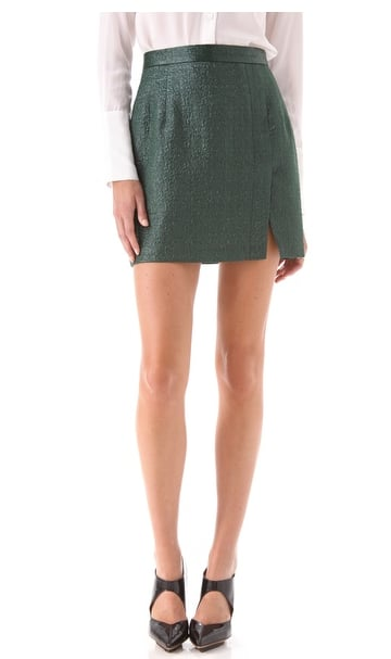 For a less obvious take, this skirt has all the richness of brocade without committing to a bold metallic fabric. Nanette Lepore Cosmic Skirt ($248)