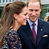 Kate Middleton and Prince William looked excited to be in Canada.