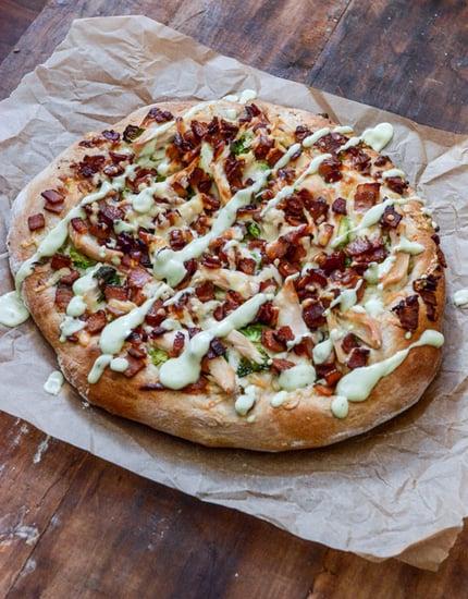 Turkey, Bacon, and Avocado Ranch Pizza