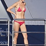 Gwyneth Paltrow in a bikini on vacation.